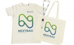 Bag e t shirt in cotone organico con stampa diretta